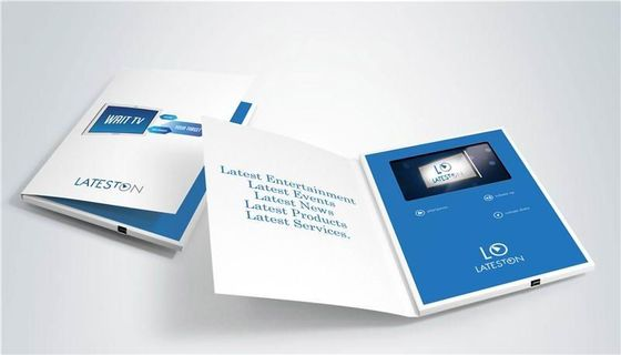 China Dancing , Singing video brochure card with HIGH Resolution LCD video factory