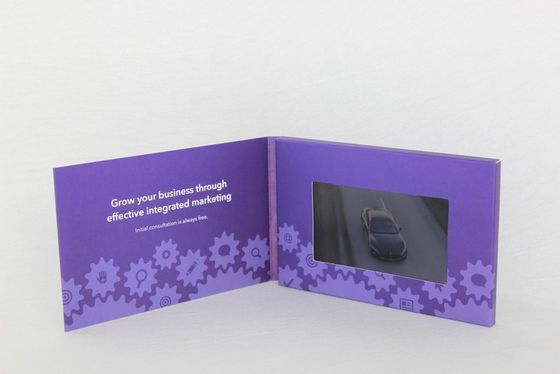 custom Full colors LCD Video Brochure for fastival , 4G / 8G lcd video card