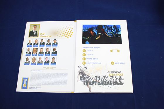 China rechargeable lcd video card for conference activities , 4.3 / 5 / 7inch lcd brochures factory
