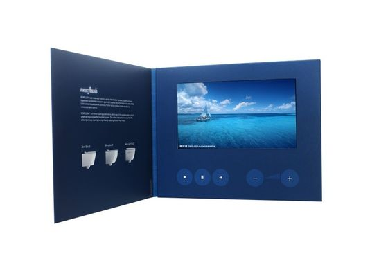 4.3'' marketing Video Invitation Card , digital video brochure with Rechargeable battery
