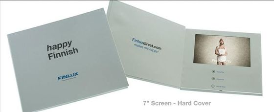 China 2.8 inch , 3.5 inch TFT LCD screen video booklet with Hardpaper / Magnetic switch factory