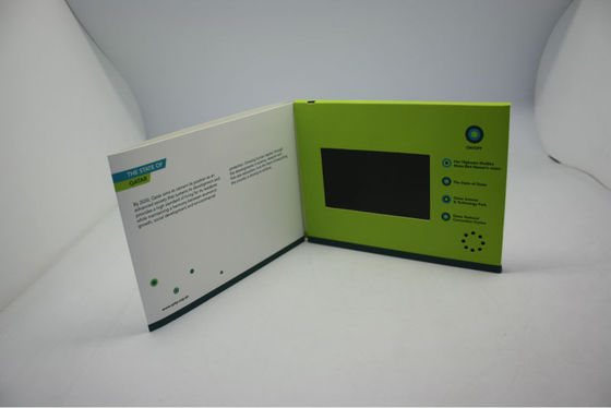 China celebration event lcd video greeting card With Magnetic switch , ON / OFF button switch factory