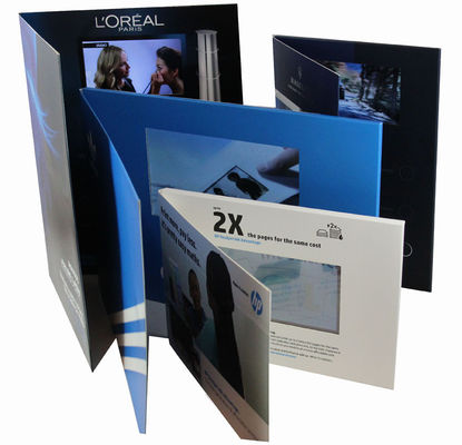 2.4 inch Full colors Video Greeting Card with rechargeable battery , 2G  memory